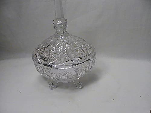 Vintage Triangle Shaped Footed Latest item Candy Lid Dish with Max 86% OFF