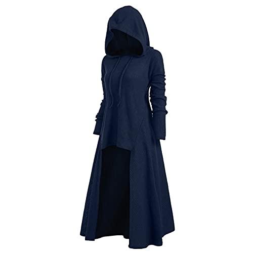 Frauen Hood Halloween Kostüme Loose Cosplay Top Mantel Retro Kleid (Color : C, Größe : XXL)