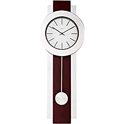Howard Miller Bergen Wall Clock 625-279 – Modern & Round with Pendulum & Quartz Movement