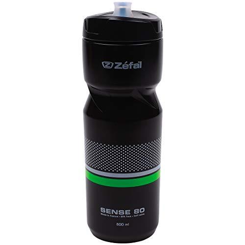 Zéfal Sense M80 - Bidon/gourde hydratation vélo/sport 800 ml - Ergonomique, Sans BPA et Inodore, Noir
