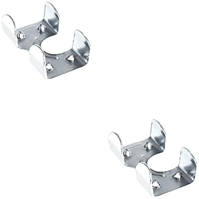 Heavy Duty Zinc Plated Double Rope Clamps Fits 3/8-inch, 1/2-inch, 5/8-inch and 1/4-inch Ropes Cords – Multiple Pack Sizes Available