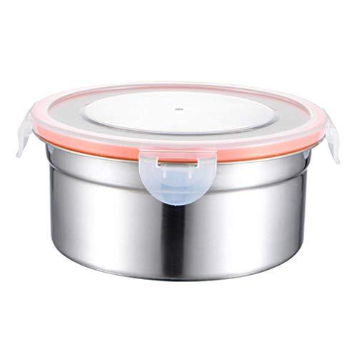 SHDS 3 recipientes de Acero Inoxidable para Alimentos con Tapas, Fiambrera Bento, Recipiente para Aperitivos, Caja de conservación Apta para lavavajillas, Organizador de Nevera para Cocina al Air