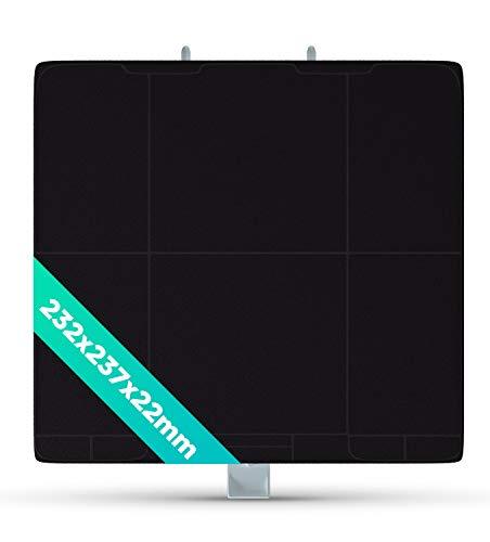 Filtro de carbón de repuesto para Bosch Balay 11026769, DHZ5326, 00705431, LZ53251, 232 x 237 mm, filtro de carbón de repuesto para campana extractora