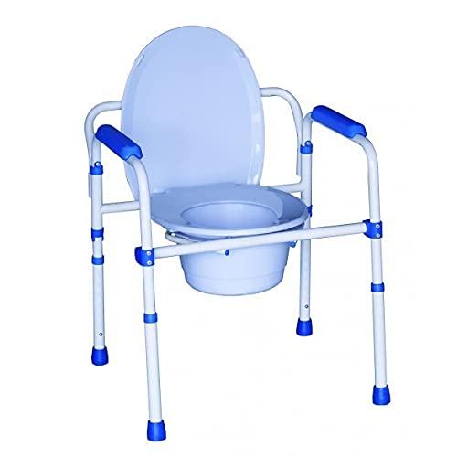Chaise percée pliante | Chaise WC | Aluminium | 3...