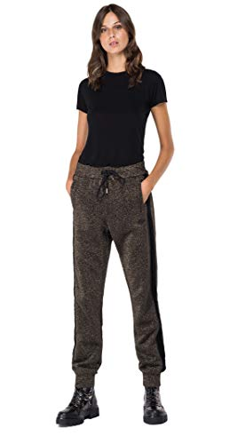 REPLAY W8530A.000.22672 Pantaloni Eleganti da Uomo, 060 Lurex Militare, M Donna