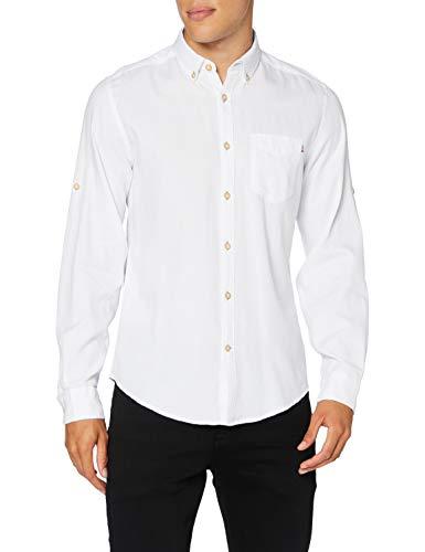 Springfield Reconsider Dobby-c/99 Camisa Casual, Blanco (White 27745299), XS (Tamaño del Fabricante: XS) para Hombre