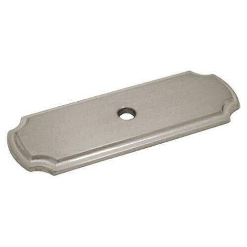 Cosmas B-112SN Satin Nickel Cabinet Hardware Knob Backplate/Back Plate - 10 Pack
