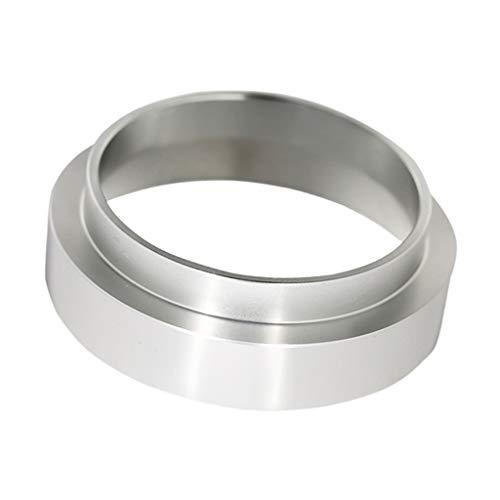 Funil de dosagem de café expresso Baoblaze, anel universal de dosagem de café em alumínio para tigela de preparação, café, pó, ferramenta Espresso Barista (3 tamanhos para escolher) - prata_54 mm