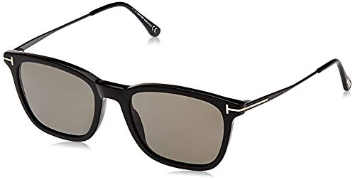 Tom Ford FT0625 01D 55 Monturas de gafas, Negro (Negro LucidoFumo Polar), 55.0 Unisex Adulto