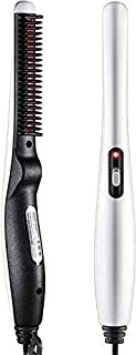Clomana Premium Quality Electric Beard Straightener Quick Hair Styler for Men Hair Comb Massage Beard Comb Multi Functional Curly Hair Straightening Comb Curler
