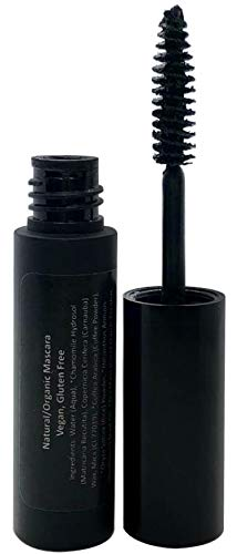Mom's Secret 100% Natural Mascara Black, Organic, Vegan, Paraben & Gluten Free, Strengthens & Volumes, Stays on all day, Made in the USA, 0.25 ounce