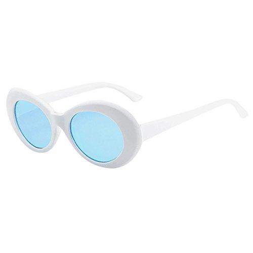 Lazzboy Unisex Sonnenbrille Retro Fashion Sunglass Sonnenbrillen Frauen Schatten Freien Groß Randlose Diamant-schneidlinse Classic LY019090313(B)