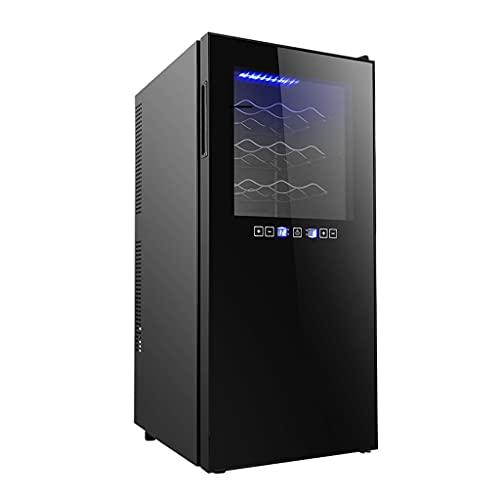 SHENXINCI Vinoteca 12~36 Botellas Refrigeración Electrónica Vinotecas,con Estante Extraíble Cromado y Luces LED,Vidrio Templado,Toque Inteligente,8-18 ° C Vinotecas