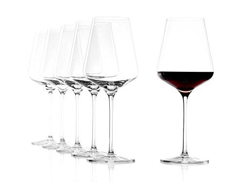 Stölzle Lausitz Bordeaux Rotweingläser Quatrophil 644ml, 6er Set Weingläser, wie mundgeblasen, Premiumqualität, spühlmaschinenfest