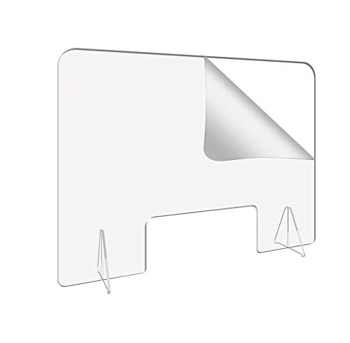 FZ FUTURE Mamparas de Protección, Escudo de Acrílico Transparente Plexiglass para Mostradores y Ventillas de Transacciones, Protección contra Estornudos y Tos,40 * 40cm~3mm