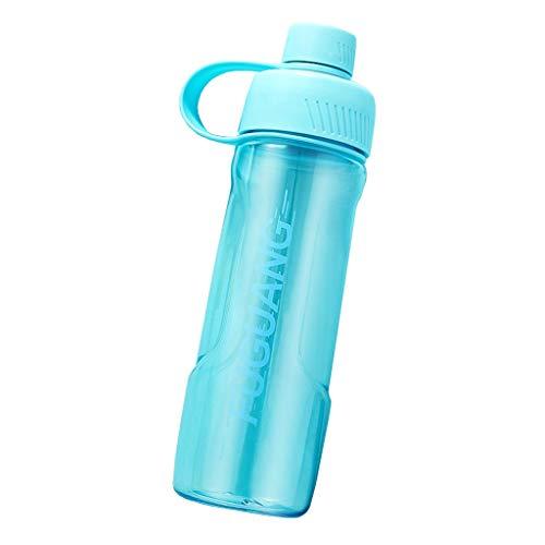 Flessen Plastic bekers Draagbare sport drop-proof student bekers Ins vrouwen eenvoudige en schattige kleine mond bekers Dubbele mond & single-mond modellen, drop-proof en lekvrij 700ml