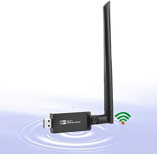 KuWFi Doble Banda 802.11ac USB3.0 Tarjeta de Red USB inalámbrica WiFi Adaptador Bluetooth Dongle LAN con Antena para computadora portátil
