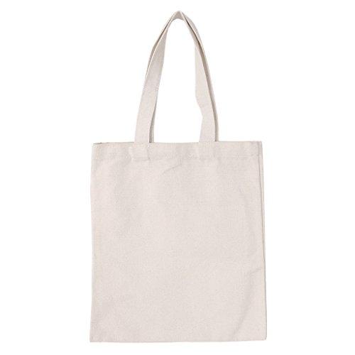 BURAN Personalisierte DIY handtaschen leinwand tragetaschen Wiederverwendbare Baumwolle Einkaufstasche beige