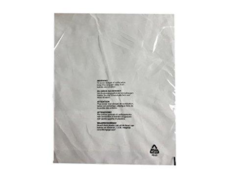 (Packung mit 200 Stück) 400 x 500 mm, Gran Clothing Garment T-Shirt Taschen Klare Schutzanzeige 5 Sprachpostsäcke mit Erstickungssicherheit für Kinder