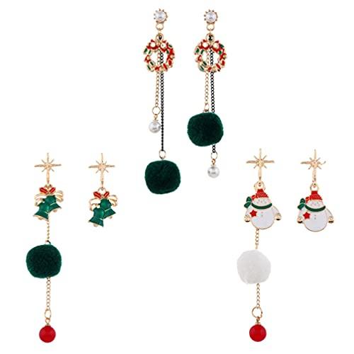 Happyyami 8 Piezas de Pendientes Colgantes de Navidad Lindos Pendientes de Disfraz de Accin de Gracias Joyera Decorativa de Oreja para Mujer Nia