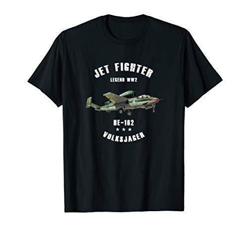 Heinkel He 162 Volksjager Military Jet Fighter Plane WW2 T-Shirt
