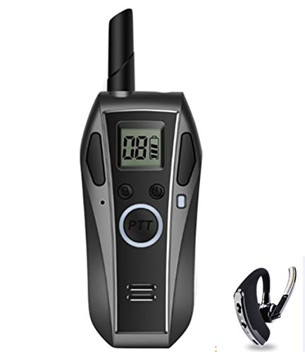 Walkie Talkie Radio Lungo Raggio Portatile 16 Canali Auricolare Bluetooth per Servizio KTV,Gray