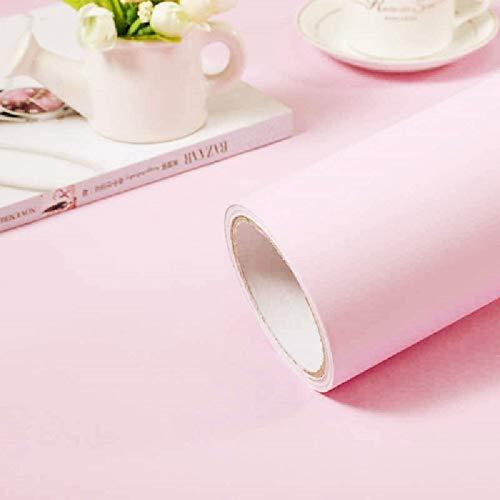 Pink Self-Adhesive Wallpaper Film Stick Paper Easy to Apply Peel and Stick Wallpaper Stick Wallpaper Shelf Liner Table and Door Reform