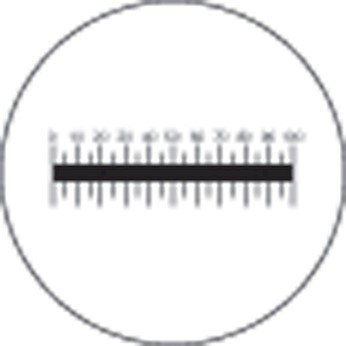 Meiji Techno MA506 Microscope Eyepiece Reticle, 10 mm/0.1 mm Scale