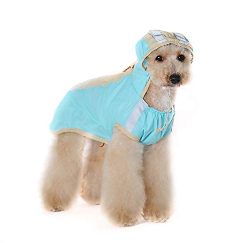 SUIWO Hond Regenkleding regenpak Lichtgewicht Waterdicht Pet Regenjas Small Medium en Large Pet Waterdichte Regenjas Pet Reflective Dog Regenjas (Color : Lake blue green, Size : 3XL)