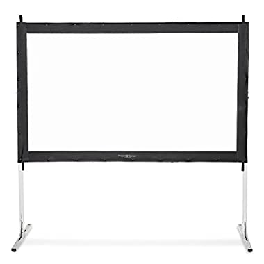 Visual Apex Projector Screen 144  4K Portable Indoor/Outdoor Movie Theater Fast-Folding Projector Screen with Stand Legs and Carry Bag HD 16:9 format