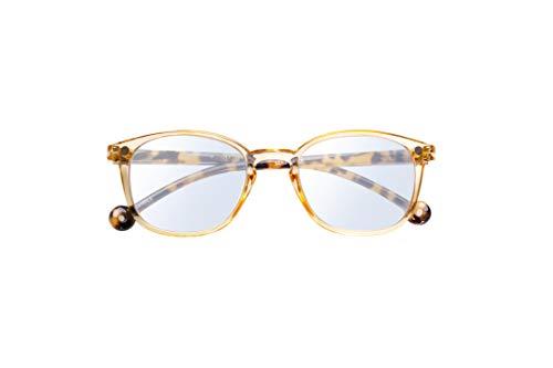 PARAFINA Sena Gafas de Lectura para Hombre y Mujer, Filtro Luz Azul, Gafas Eco-Friendly Anti-reflejantes, Montura Eco-friendly, color Transparente Marruecos, Graduación +2.00