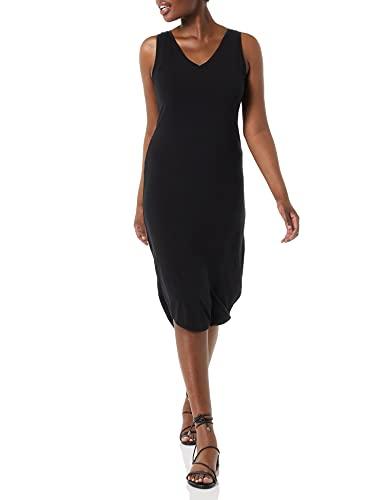 Marca Amazon - Vestido de punto sin mangas con cuello en V para mujer, Negro (Black 1), US XXL (EU 3XL - 4XL)