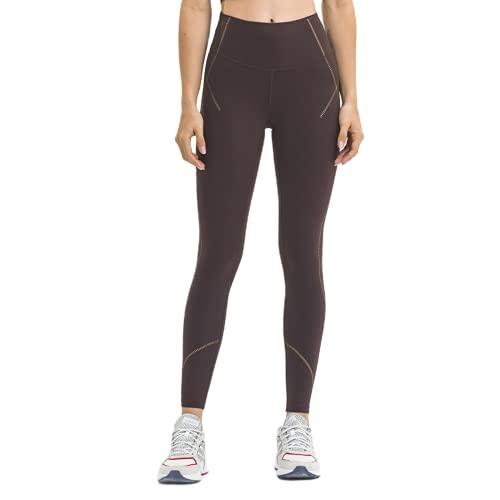 QTJY Pantalones de Yoga de Cintura Alta para Mujer Pantalones de Entrenamiento a Rayas Pantalones de Fitness Medias de Cadera Delgadas Flexiones Pantalones de Entrenamiento de Celulitis B M