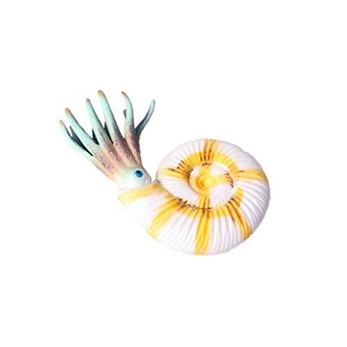 TOYANDONA Animales marinos, ornamentos, océano, modelo artesanal, conchas, animales marinos, figuras de juguete para niños pequeños