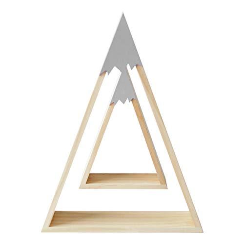 Wandregal Aufbewahrung Yanhonin Regal Tipi aus Holz Regal f/ür Kinderzimmer Baby DIY Dekoration