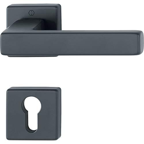 FH-deurklinkset TOULON - op rozet PZ, deurdikte 40-45, VK 8,5 aluminium mat zwart