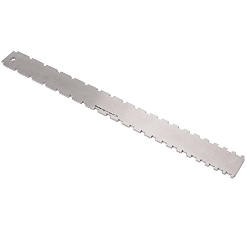 VGEBY1 Guitar Neck Edge luthiers, Acciaio Inossidabile Dentellato Fret Board Fret Board Straight Edge Neck Leveling Straight Edge
