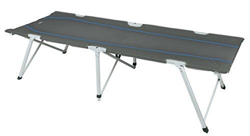High Peak Toledo XL, Lettino da Campeggio Unisex – Adulto, Grigio Scuro/Blu, 205 x 78 x 51 cm