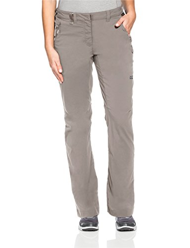 Jack Wolfskin Damen Activate Light Pants Women Hose, Moon Rock, 40