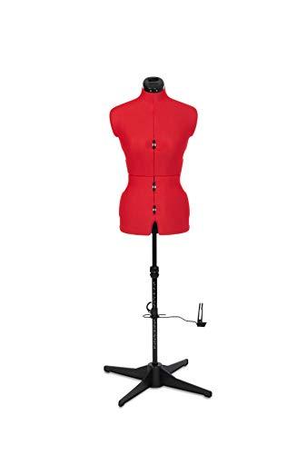 Adjustoform Sew Simple 8 Part Dress Form, Plasma Red Nylon Fabric, Small