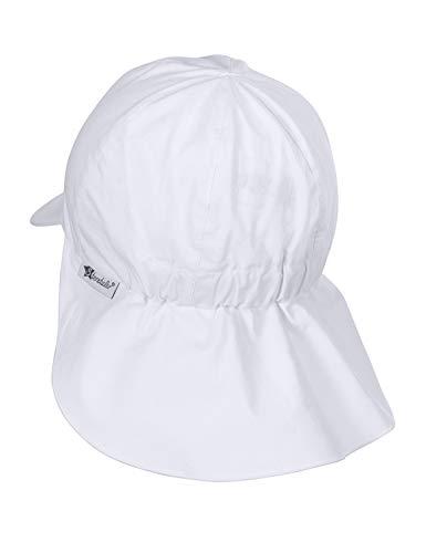 Sterntaler Berretto bebé con Visiera e Protezione Nuca Cappellino, Bianco (Weiss 500), 47 Unisex-Bimbi 0-24