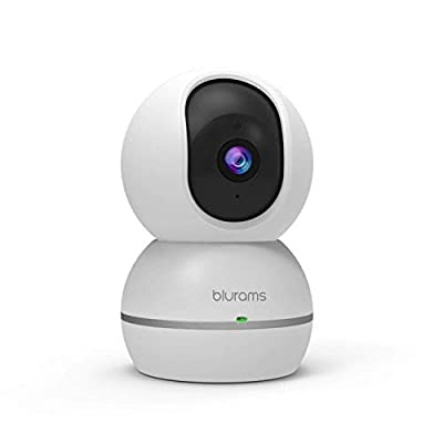 blurams 1080p Dome Security Camera   PTZ Surveillance System with Motion/Sound Detection, Smart AI Alerts, Privacy Mode, Night Vision, Two-Way Audio   Cloud/Local Storage Available   Works with Alexa