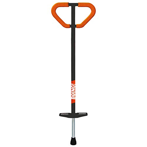 Geospace Large Jumparoo Boing! MAX Pogo Stick by Air Kicks; for Adults and Kids 90 - 160 Lbs., Assorted Colors Black or White