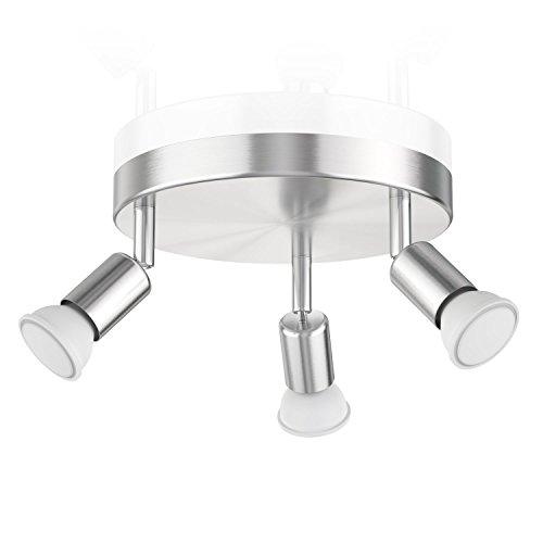 Preisvergleich Produktbild ledscom.de Deckenleuchte LUNARA,  dreiflammig inkl. 340lm LED GU10 Lampen,  weiß