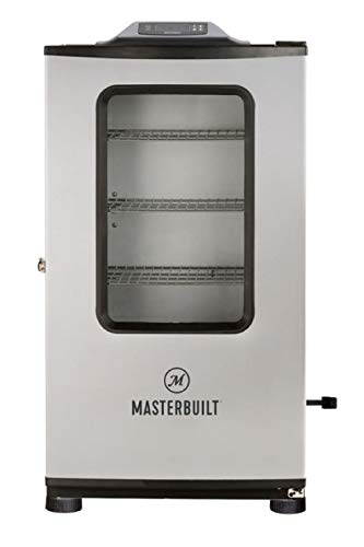 "Masterbuilt MB20074719 Mes 140g Bluetooth Digital Electric Smoker, 40"" Stainless + Window + BT"
