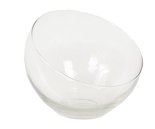 chiccie Verre Bol décoratif – Ø16 cm Ø21 cm – Bol Verre Vase en verre Vase, Verre, transparent, Ø 21cm