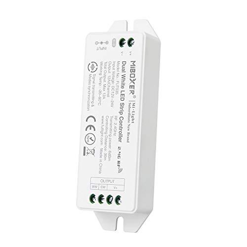 LIGHTEU®, Milight Miboxer 2,4 GHz Farbtemperatur Dual White LED-Streifenregler DC12V / 24V Ausgang max. 12A, FUT035