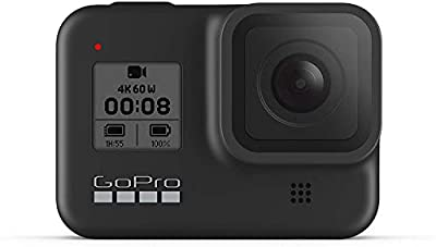GoPro HERO8 Black Waterproof Action Camera with Touch Screen 4K Ultra HD Video 12MP Photos 1080p Live with Accessoy Bundle + 2 Extra GoPro USA Batteries Total 3 + Sandisk 64GB MicroSD U3 + Ritz Reader by GoPro