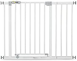 Hauck Open'N Stop Safety Gate (75-80 cm), with 21 cm Extension, White