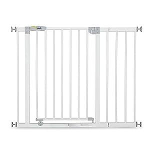 Hauck Open N Stop Puerta de Seguridad con Extensión de 21 cm, 96-101 cm, Sin Agujeros en la Pared, Combinable con Y-Spindel Para Barandillas, Blanco
